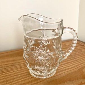 VTG Mid-Century Starburst Etched Glass Creamer